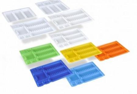 DU disposable tray 18x28cm, diverse kleuren