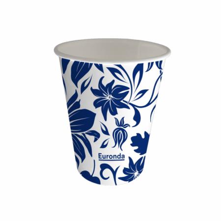 Bekers Karton Flower Blauw 180ml 1000stuks