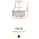 Classic M3 drukknop 724CX st