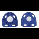 Artex modelplaten blauw